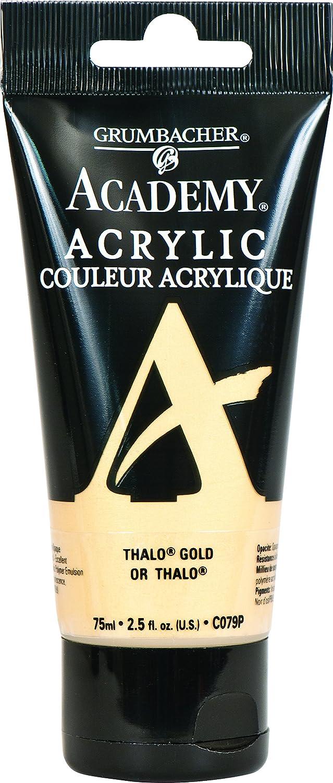 Grumbacher Academy Acrylic Paint, 75ml/2.5 Ounce Plastic Tube, Thalo Gold (C079P)