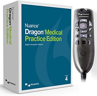 Nuance Dragon Medical Practice Edition 4 with Powermic III for Windows (Microphone with 3 Foot Cable)