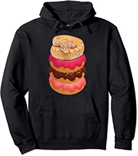 Funny Ball Python Pullover Hoodie for Snake and Donut Lovers Pullover Hoodie