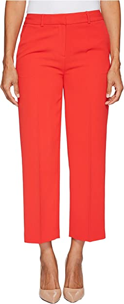 Petite Texture Base Straight Leg Crop Pants