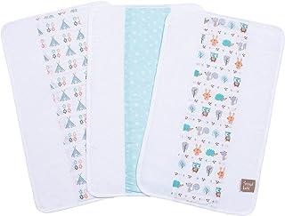 Trend Lab Forest Babies 3 Piece Jumbo Burp Cloth Set, Multi