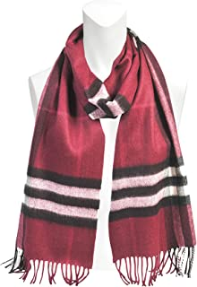 The Classic Check Cashmere Scarf in Plum