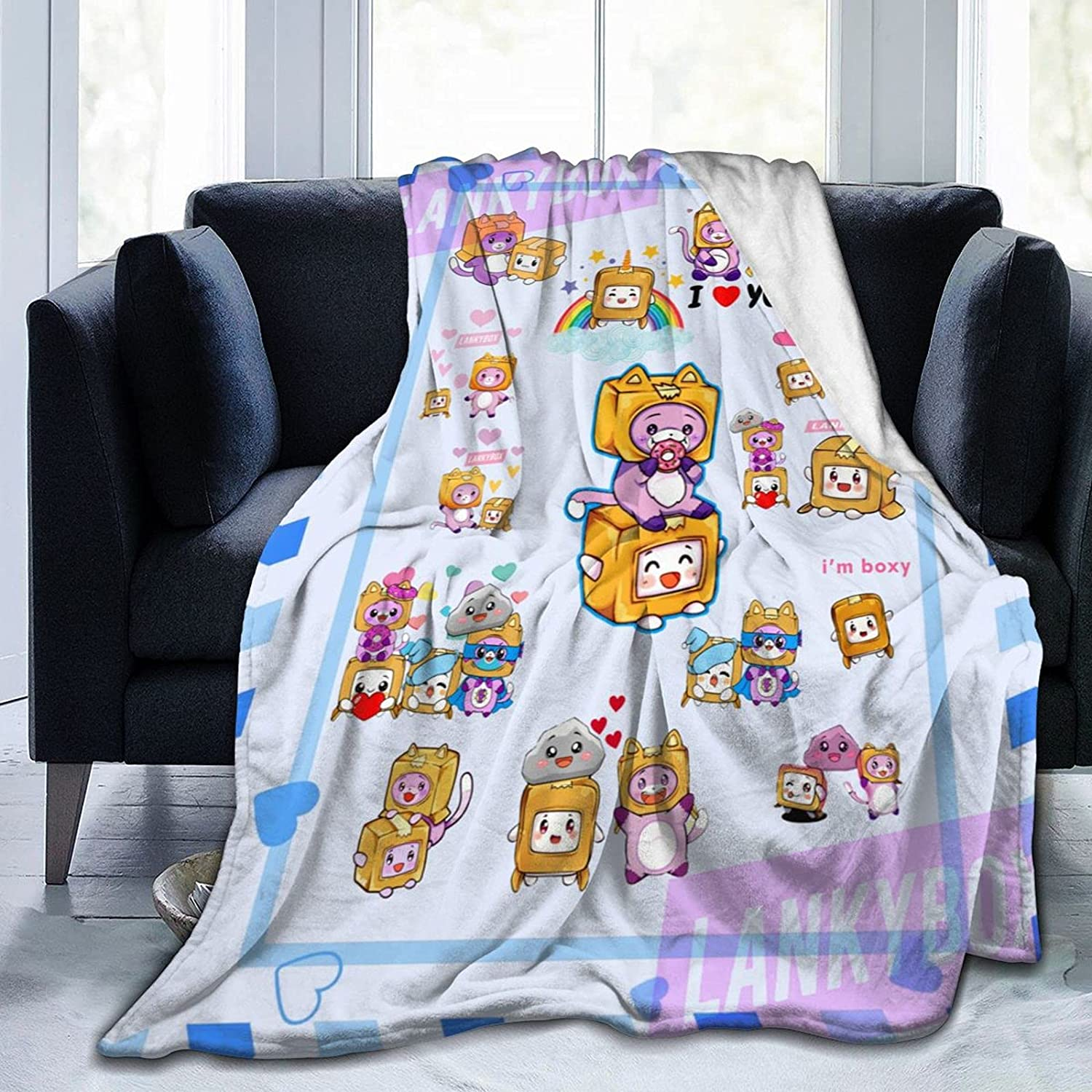 Phoenix Mall Foxy and Boxy Blanket Ultra Soft Todd favorite Lining Fleece for Flannel