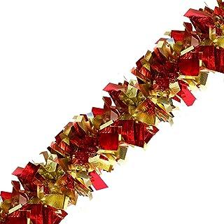 Brite Star Bent Tip Sparkle Elegance Tinsel, RED/Gold