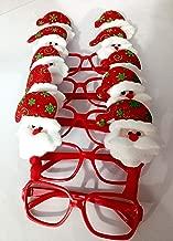 Tingoking Xmas Décor Christmas Eyeglasses/Christmas Party Goggles/Christmas Glasses/Christmas Decoration - Santa (Pack of 5)