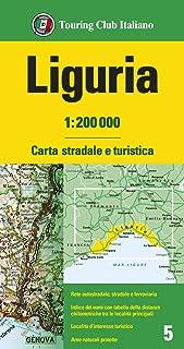Liguria 1:200.000. Carta stradale e turistica. Ediz. multilingue