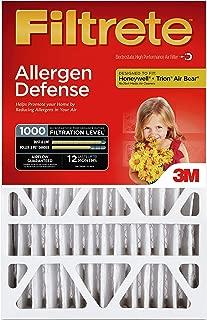 Filtrete 20x25x4, AC Furnace Air Filter, MPR 1000 DP, Micro Allergen Defense Deep Pleat, 4-Pack