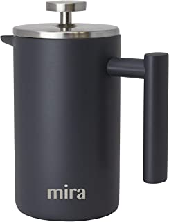 MIRA 20 oz Stainless Steel French Press Coffee Maker | Double Walled Insulated Coffee & Tea Brewer Pot & Maker | Keeps Bre...