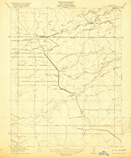 California Maps - 1918 Bliss Ranch, CA USGS Historical Topographic Map - Cartography Wall Art - 44in x 53in