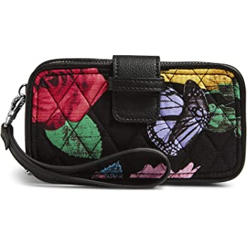 Vera Bradley Women's Signature Cotton Smartphone Wristlet with RFID Protection