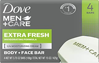 Dove Men+Care 3 In 1 Bar for Body, Face, and Shaving To Clean and Hydrate Skin Extra Fresh Body and Facial Cleanser More M...