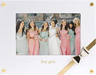 Pearhead Sentimental 'The Girls' 4x6 Wedding Keepsake Picture Frame, White