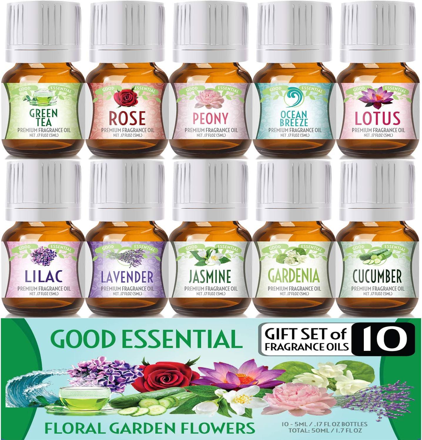 5. Floral Ocean Gardens Good Essential Fragrance Oil Set