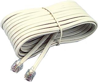 Softalk 04020 Phone Line Cord 25-Feet Ivory Landline Telephone Accessory