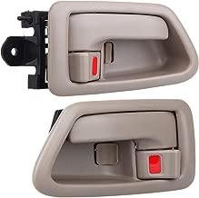 ECCPP Door Handles Interior Inside Inner Driver Passenger Side for 1997 1998 1999 2000 2001 Toyota Camry Beige(2pcs)