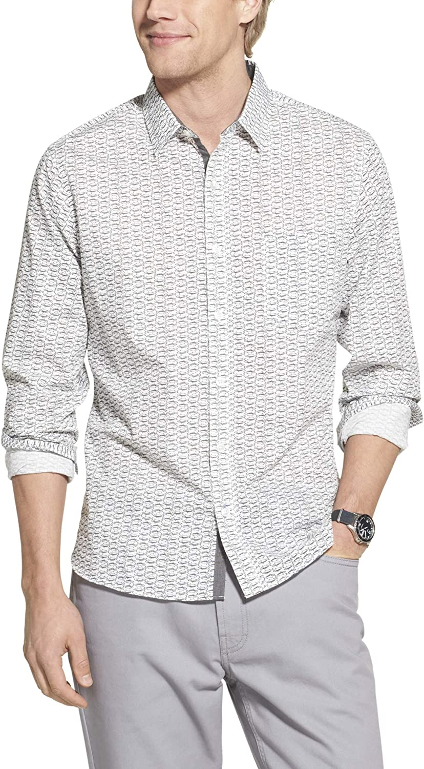 Geoffrey Beene Men's Slim Fit Easy Down New Free Shipping Button Care Sleeve Long shipfree