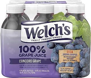 (24 Bottles) Welchs 100% Juice, Concord Grape, 10 Fl Oz
