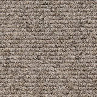 House, Home and More Indoor Outdoor Carpet with Rubber Marine Backing - Brown - 6 Feet x 25 Feet