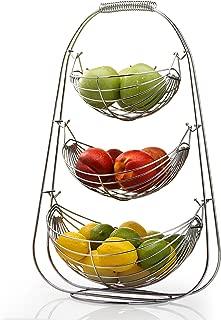 Sagler 4218 3 Tier Stainless Steel Large Bowl-Useful for Fruit Storage Basket, 14