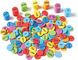 Learning Resources Place Value Disks, Set of 280 Pieces, Ages 6 and up