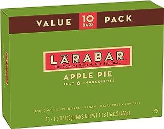 LARABAR, Fruit & Nut Bar, Apple Pie, Gluten Free, Vegan, Whole 30 Compliant, 1.6 oz Bars (10 Count)