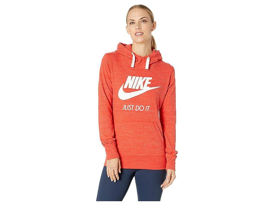 Nike Sportswear Gym Vintage HBR Hoodie (Habanero Red/Sail) Women