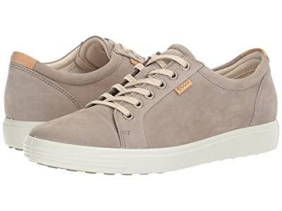 ECCO Soft 7 Sneaker (Warm Grey Cow Nubuck) Women