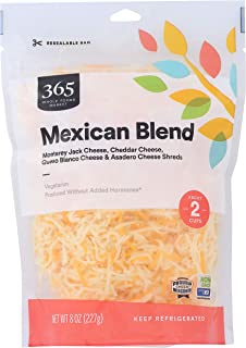 365 by Whole Foods Market, Cheese Shreds, Mexican Blend, 8 Ounce