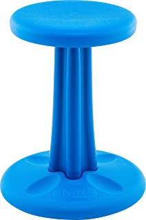 Kore Wobble Chair - Flexible Seating Stool for Classroom, Elementary School, ADD/ADHD - Made in USA - Junior- Age 8-9, Grade 3-4, Blue (16in)