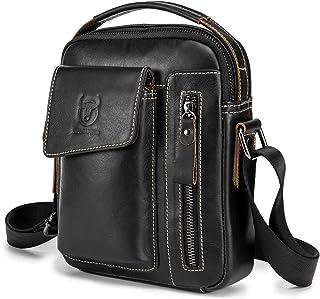 Shoulder Pack, Morelian Men Vintage Leather Shoulder Bag Outdoor Sports Travel Crossbody Bag Handbag Casual Bag Pack