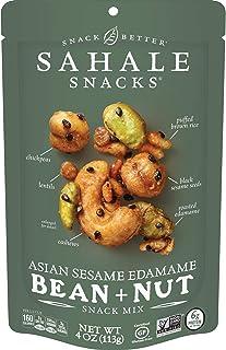 Sahale Snacks Asian Sesame Edamame Bean + Nut Snack Mix, 4 Ounces (Pack of 6)