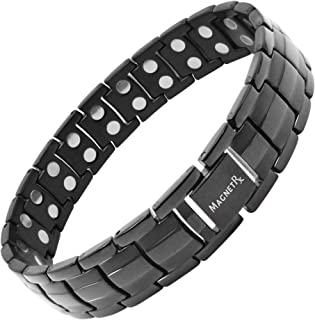 MagnetRX Ultra Strength Magnetic Therapy Bracelet Wide Double Magnet Pain Relief for Arthritis and Carpal Tunnel