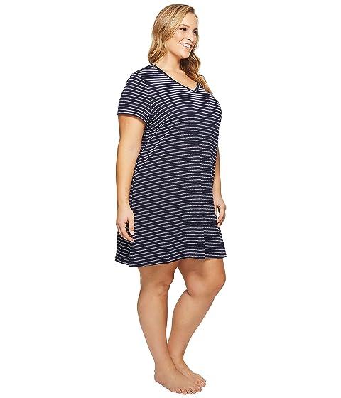 Plus Nautica Stripe Size Camiseta Sleepshirt Navy Striped Yn6Z6P