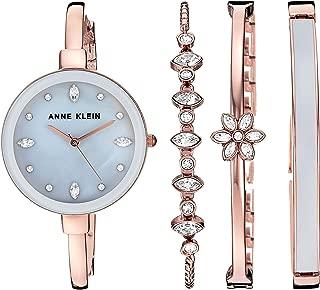 Women's AK/3352 Swarovski Crystal Accented Bangle Watch and Bracelet Set