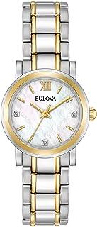 Bulova - Reloj de cuarzo para mujer 98P165 Timeless Diamond esfera blanca