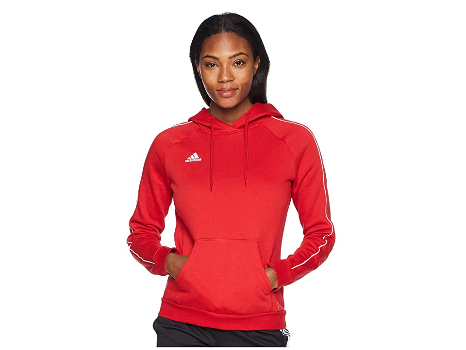 adidas Core18 Hoodie (Power Red/White) Women