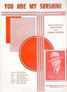 YOU ARE MY SUNSHINE - Sheet Music, 1940