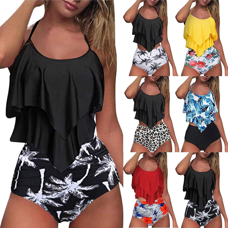 Gerichy Swimsuit for Women, Women Bathing Suit 2 Piece Tummy Control Sexy High Waist Swimdress Tankini Swimwear