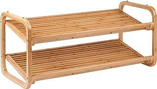 Honey-Can-Do 2 Tier Bamboo Shoe Rack SHO-01633 Natural