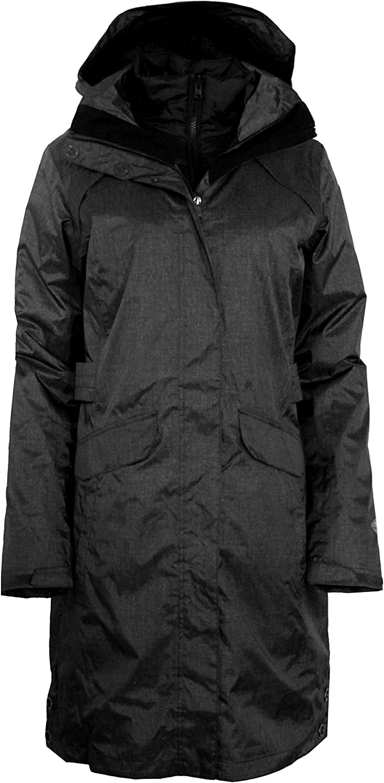Columbia Timber Pointe Women's Printed Long Omni Heat Interchange Waterproof Jacket Parka (XS, Black Printed)