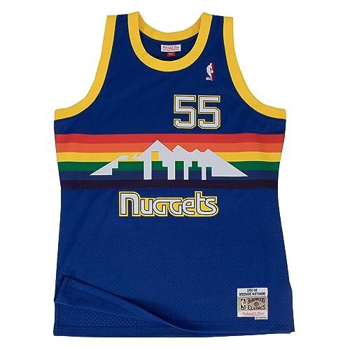 2aef9444 Mitchell & Ness Dikembe Mutombo 1991-92 Denver Nuggets Blue HWC Swingman  Jersey