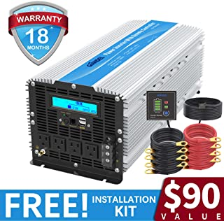 5000Watt Heavy Duty Power Inverter DC 12volt to AC 120volt with LCD Display 4 AC Sockets Dual USB Ports & Remote Control for Truck RV and Emergency