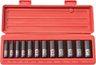 TEKTON 3/8-Inch Drive Deep Impact Socket Set, Inch, Cr-V, 6-Point, 5/16-Inch –..