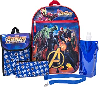 Vengadores - Juego de mochila de 6 piezas para niños de los Vengadores