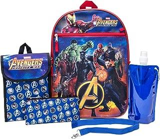 Marvel Avengers Backpack Combo Set - Avengers Boys 6 Piece Backpack Set (Navy)