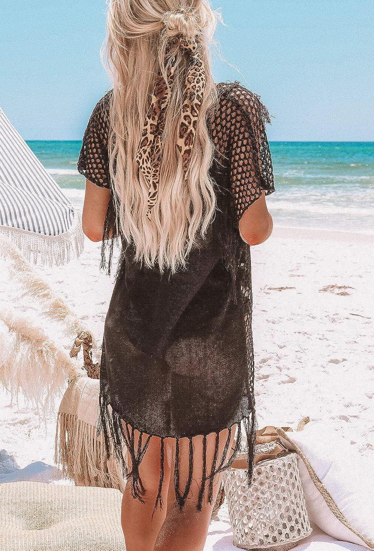 AiJump T/única de Punto Pareo Bikini Cover Up de Playa para Mujer