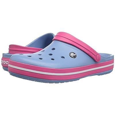 Crocs Crocband Clog (Chambray Blue/Paradise Pink 1) Clog Shoes