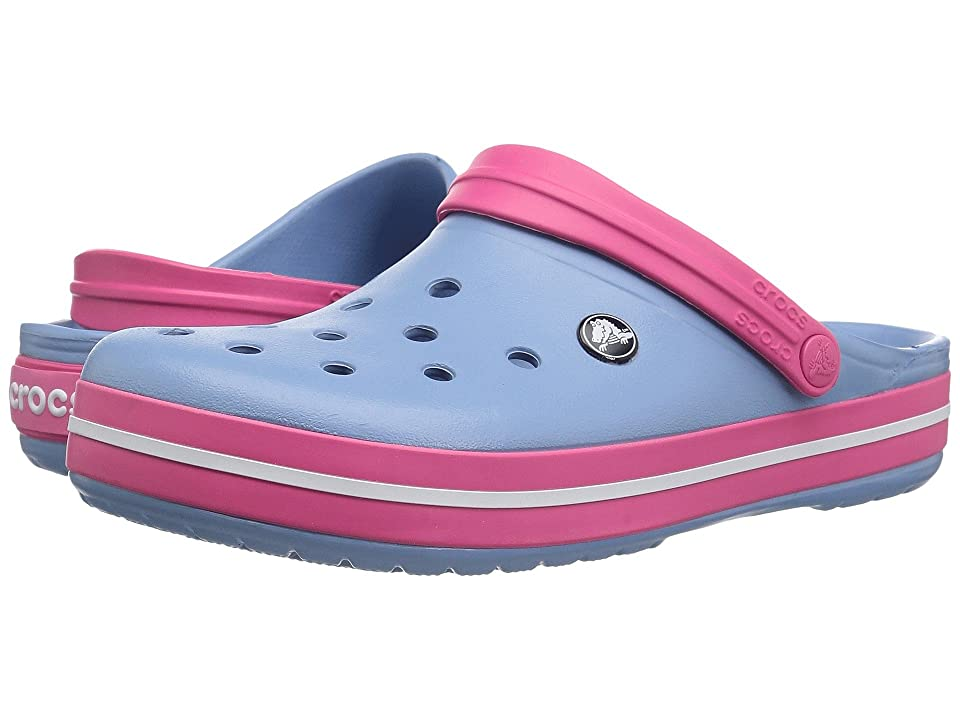 Crocs Crocband Clog (Chambray Blue/Paradise Pink 1) Clog Shoes