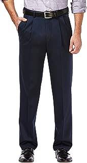 Men's Premium No Iron Khaki Classic Fit Pleated Front...