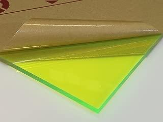 Fluorescent Green Acrylic Plexiglass 9093 - 1/4